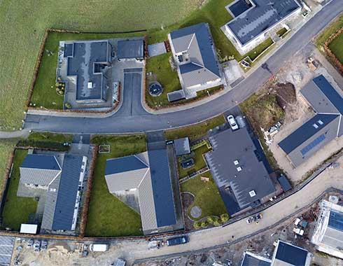 drone foto roskilde af dronepilot